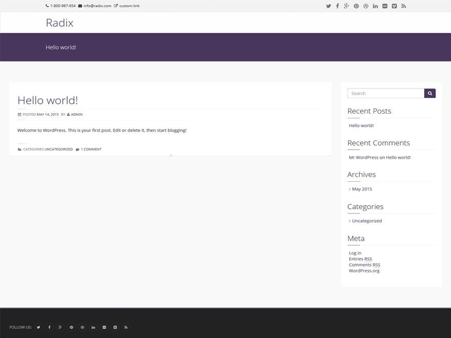 Radix WordPress theme