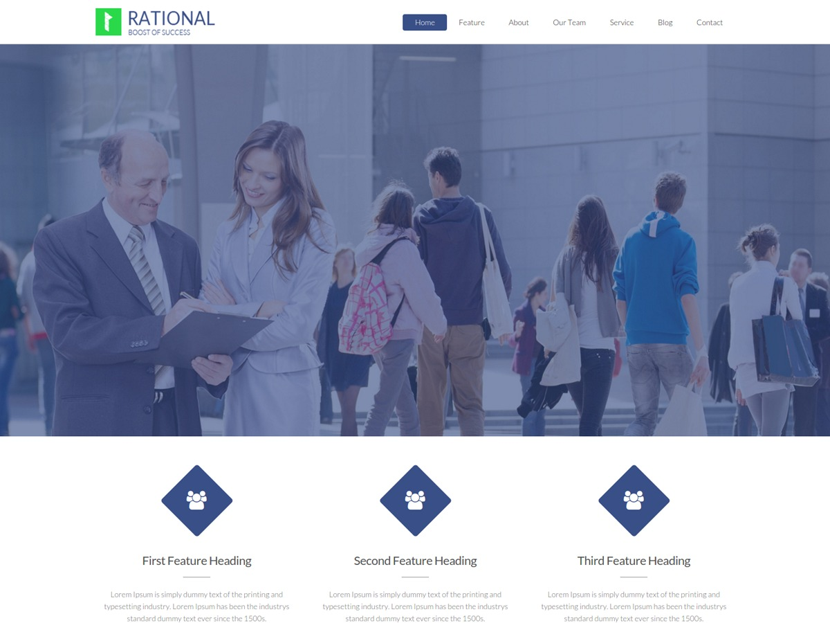 Rational Lite free WP theme