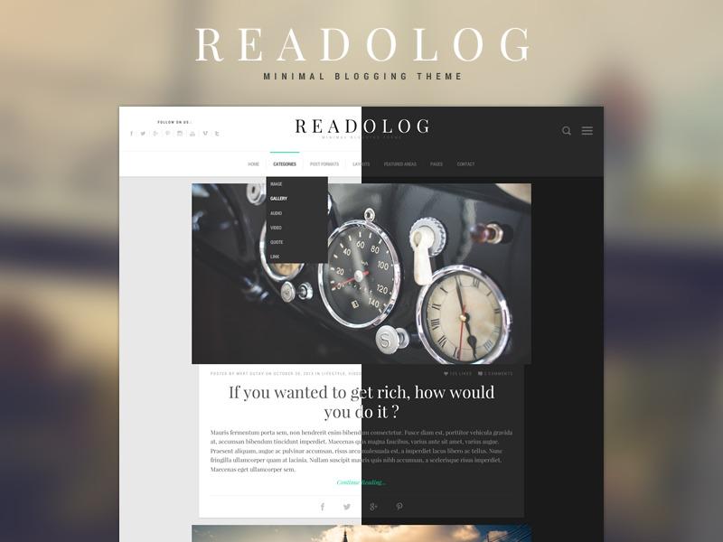 Readolog WordPress blog theme