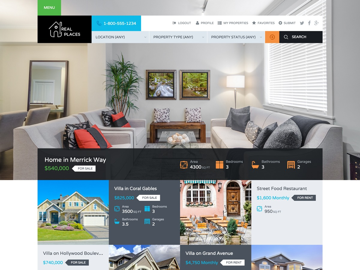 Real Places WordPress real estate
