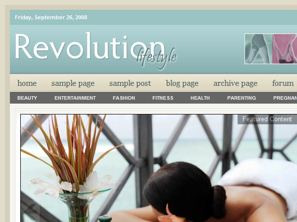 Revolution Lifestyle WordPress page template