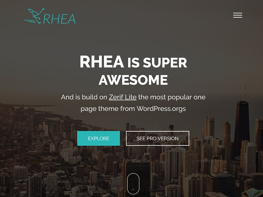 Rhea WordPress template free