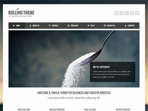 Rollingtheme personal WordPress theme