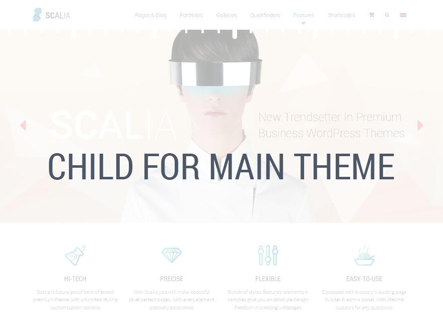 Scalia Child best WordPress theme