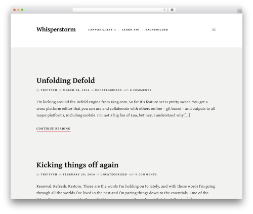 Scripted free WordPress theme - whisperstorm.com