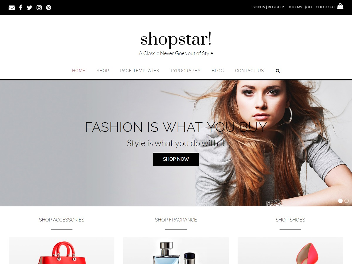 Shopstar! WordPress ecommerce template