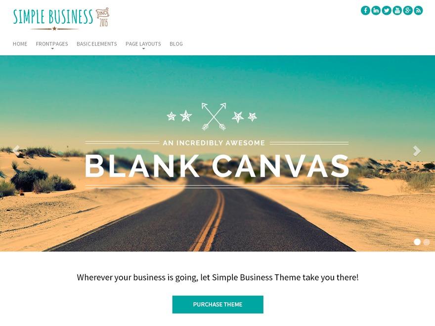 Simple Business WP template WordPress free
