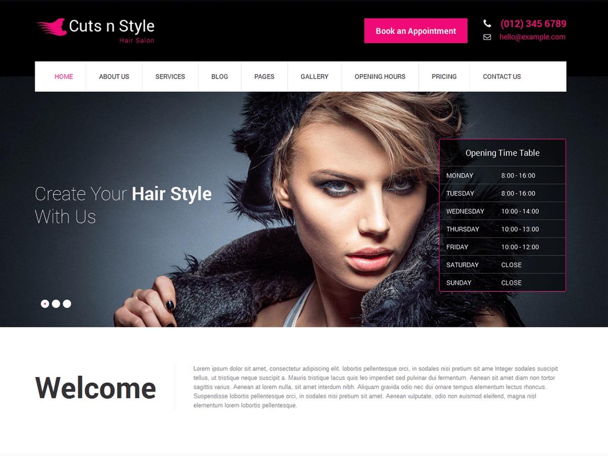 SKT Cutsnstyle Lite WordPress ecommerce theme