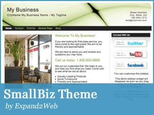 SmallBiz Lite WordPress blog theme