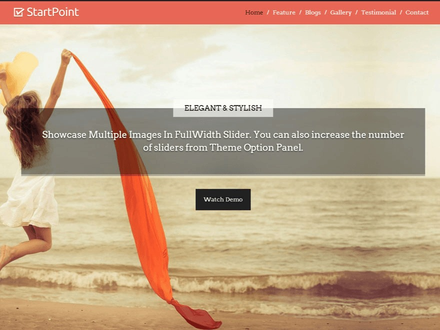 StartPoint company WordPress theme
