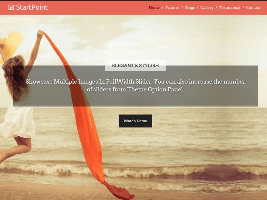 StartPoint company WordPress theme