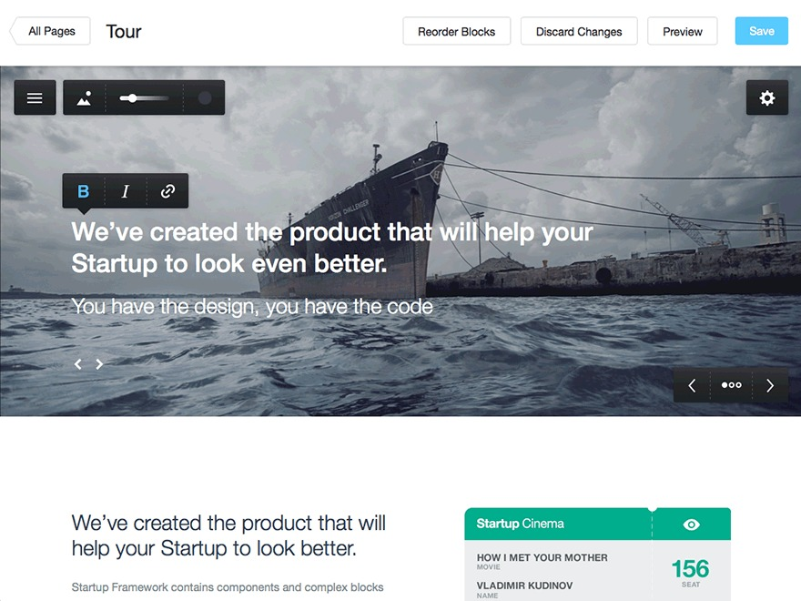 Startup Framework for WordPress theme WordPress