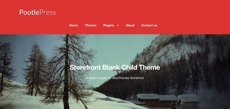 Storefront Blank Child Theme WordPress ecommerce template