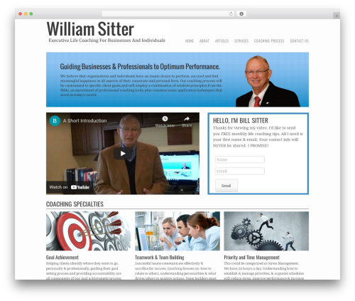 Storyteller WordPress theme - williamsitterlifecoaching.com