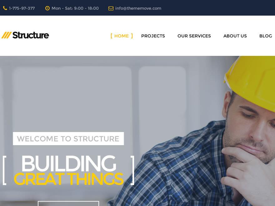 Structure Child best WordPress theme