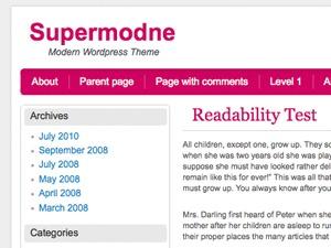 Supermodne fashion WordPress theme