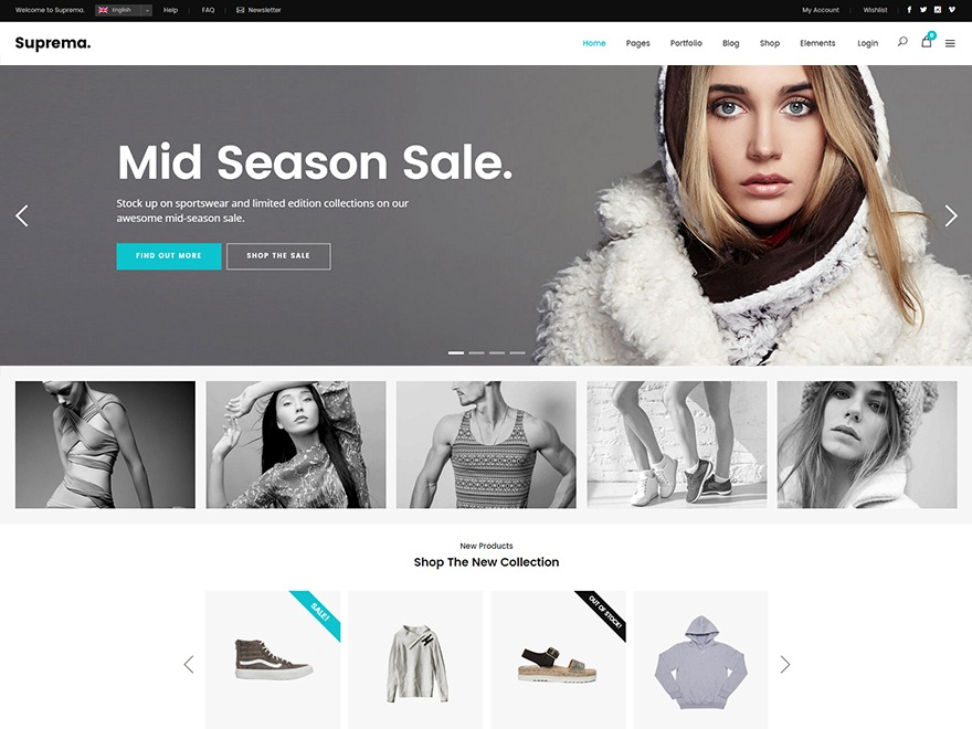 Suprema WordPress ecommerce template