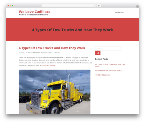 Teller best WordPress theme - welovecadillacs.com