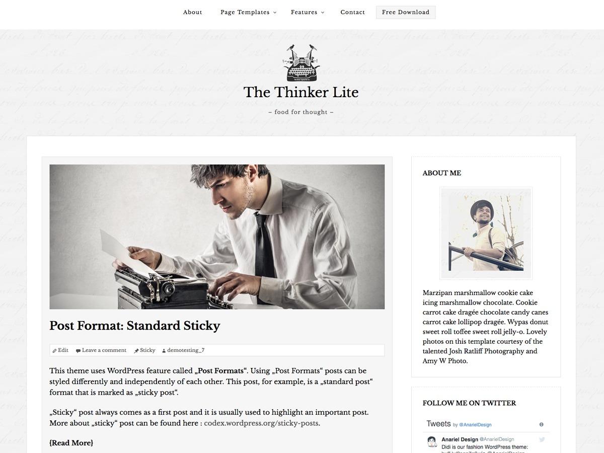 The Thinker Lite best free WordPress theme