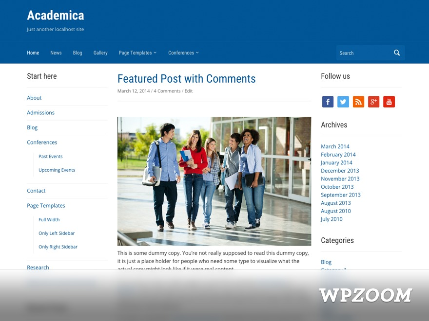 Theme WordPress Academica