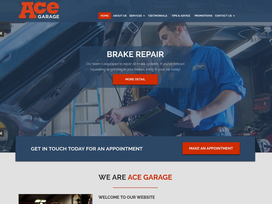 Theme WordPress Ace Garage Template