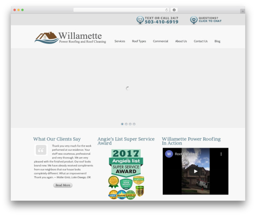 Theme WordPress Simplicity - willametteroof.com