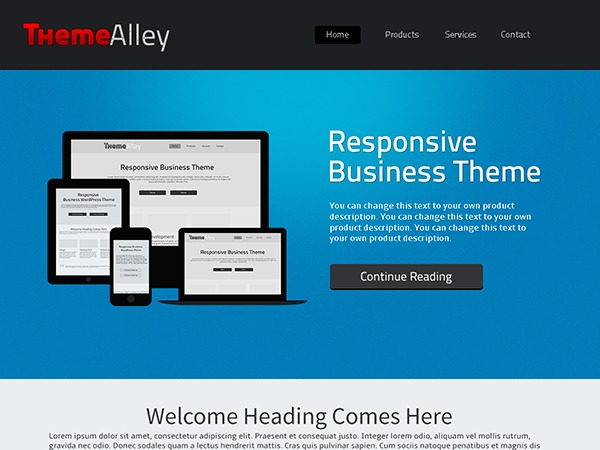ThemeAlley.Business company WordPress theme