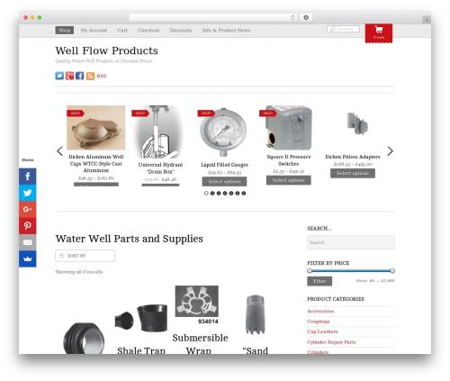 Themify Minshop WordPress shopping theme - wellflowproducts.com