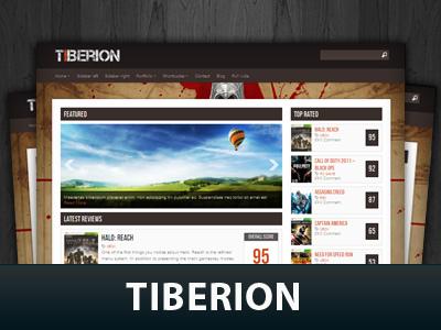 Tiberion WordPress gaming theme
