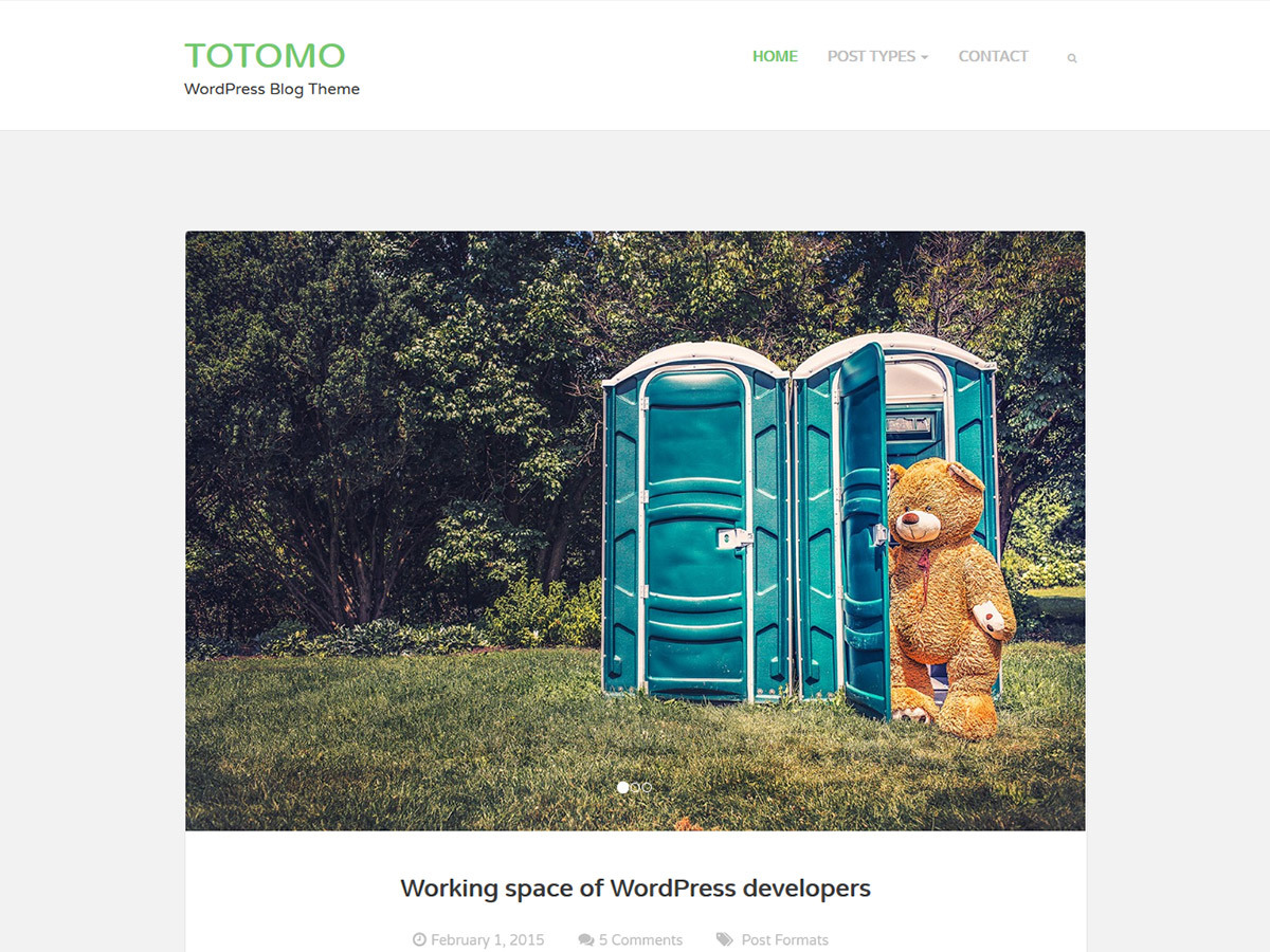Totomo WordPress blog theme