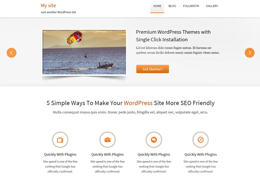 Traffica free WP theme