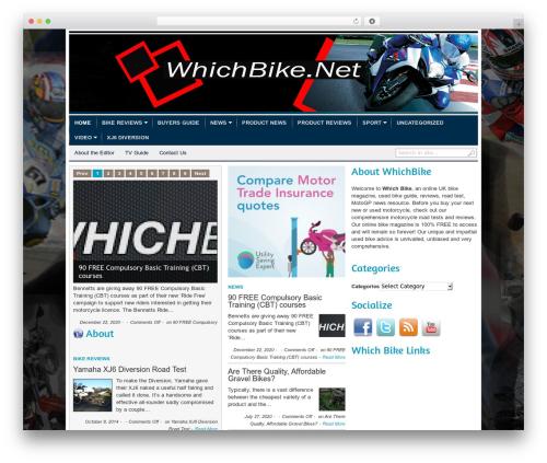 transcript WordPress theme - whichbike.net