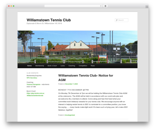 Twenty Eleven WordPress template free download - williamstowntennisclub.com.au