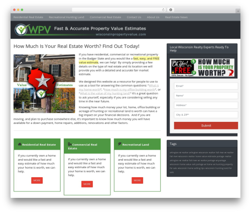 Ultimate SiloStorm Pro WordPress real estate - wisconsinpropertyvalue.com