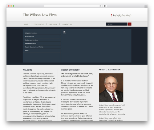 Vertical business WordPress theme - willaw.com