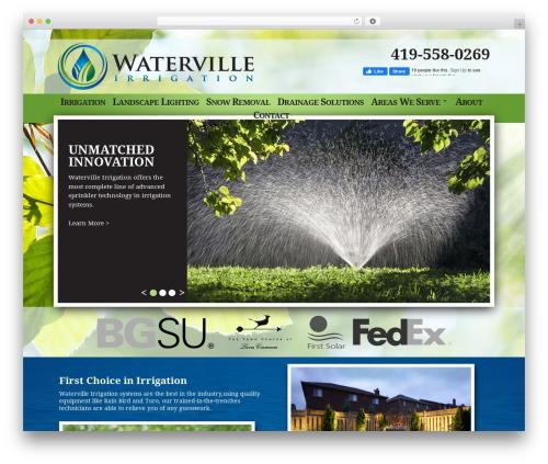 Water Ville landscaping WordPress theme - watervilleirrigationinc.com