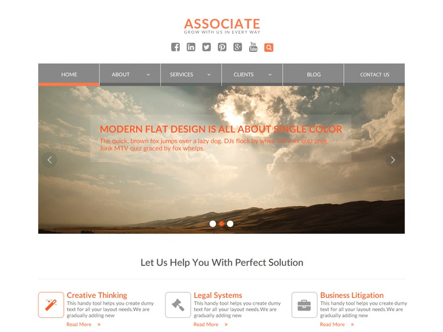 WEN Associate template WordPress free