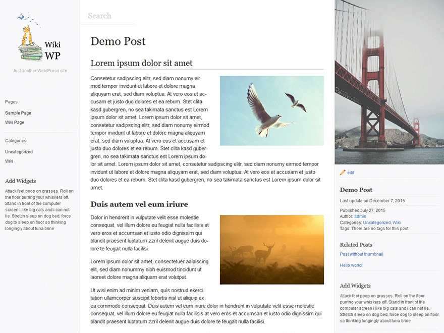 WikiWP template WordPress free