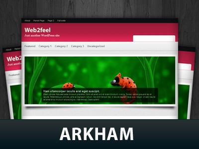 WordPress template Arkham