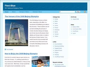 WordPress template Flexi-Blue