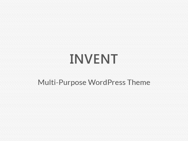 WordPress template Invent