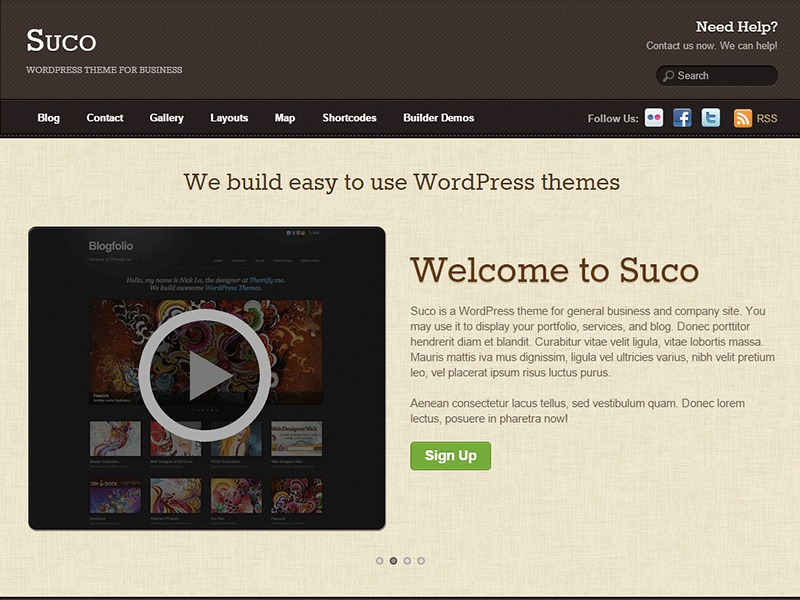 WordPress template Themify Suco