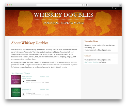 WordPress template WP RootStrap - whiskeydoubles.com