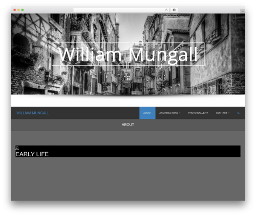 WordPress theme accurate - williammungall.com