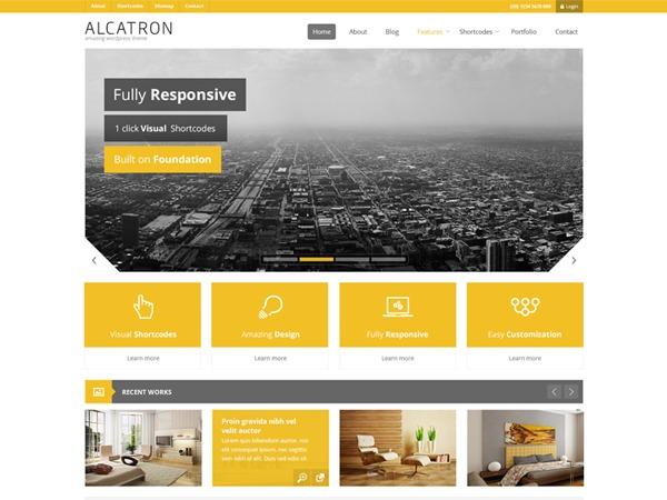 WordPress theme Alcatron