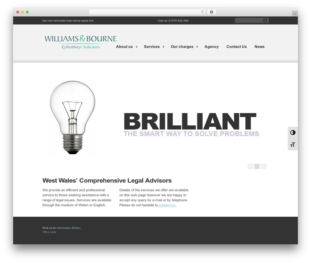 WordPress theme Clearly Modern - west-wales-solicitors.co.uk