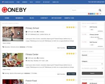 WordPress theme Goneby - PremiumPress Child Theme