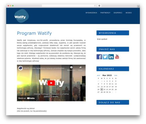 WordPress theme Hostmarks - watify.communication.pl