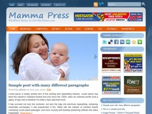 WordPress theme Mamma Press