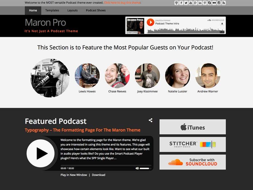 WordPress theme Maron Pro Theme